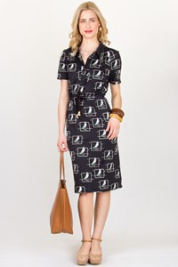 Lanvin Vintage Printed Dress / Size: ? - Fit: Small